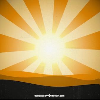 Golden zonneschijnachtergrond