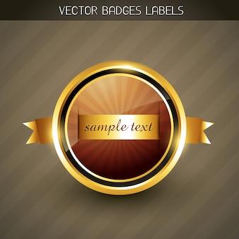 Golen elegant label