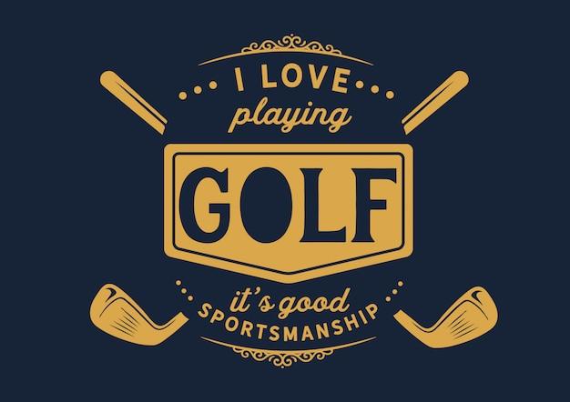 Golf-badge