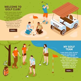 Golf banners set