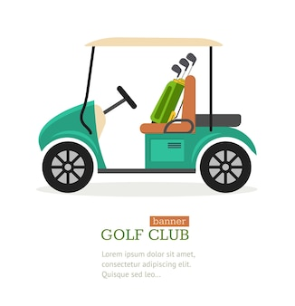 Golf club symbool banner