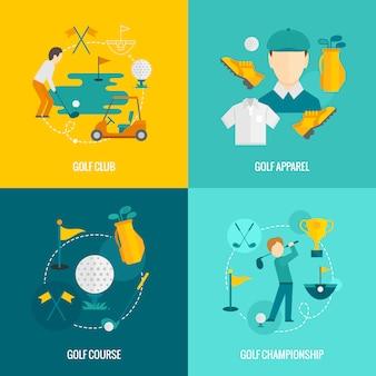 Golf elementen plat