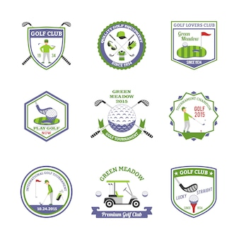 Golf emblemen set
