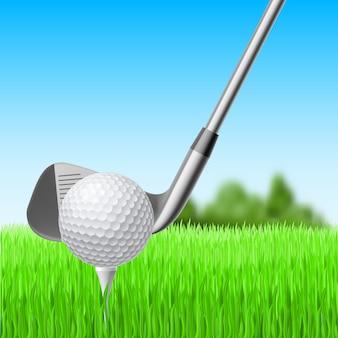 Golf illustratie