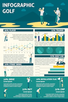 Golf infographics set
