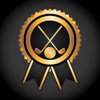 Golf kampioenschap ontwerp