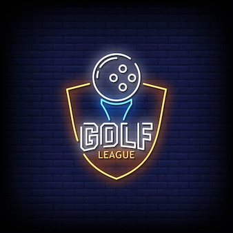 Golf league neon signs style text