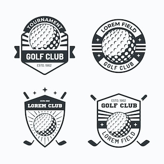 Golf logo collectie in plat ontwerp