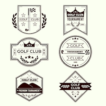 Golf logo collectie