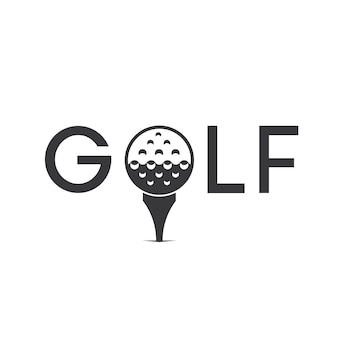 Golf logo ontwerp vector