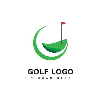 Golf logo template vector illustratie pictogram ontwerp