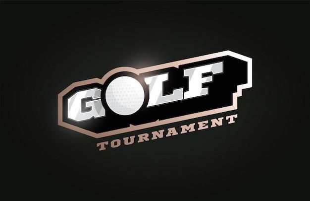 Golf modern professioneel sportlogo in retrostijl