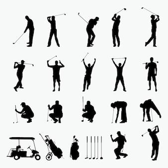 Golf speler silhouet