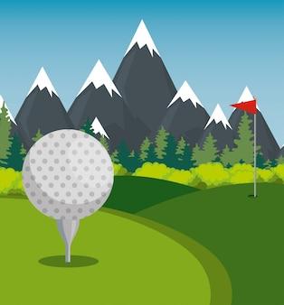 Golf sport kampioenen league pictogrammen