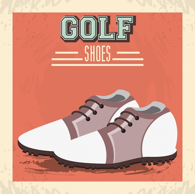 Golf uniform schoenen pictogram