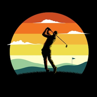Golf vlakke afbeelding