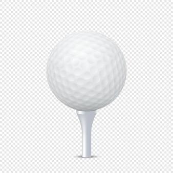 Golfbal op tee