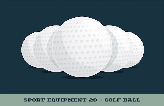 Golfballen pictogram