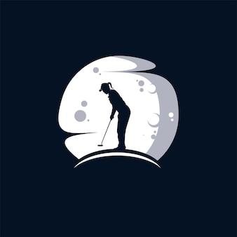 Golfclub in de maan