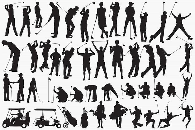 Golfers silhouetten