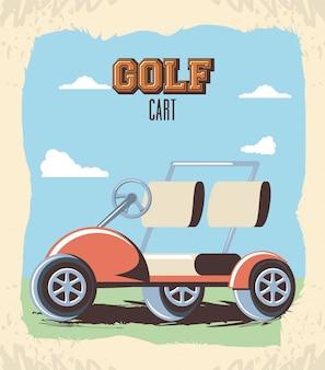 Golfkar in de club