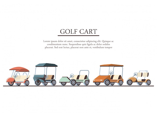 Golfkarretjes instellen pictogrammen