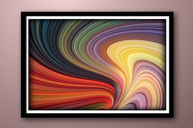 Golflijn van stromende veelkleurige vloeistof