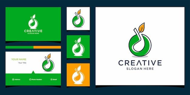 Golflogo-ontwerp met sjabloon voor visitekaartjes