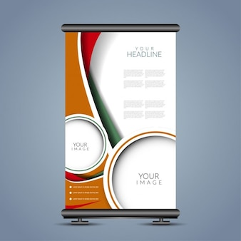 Golfpatroon roll up banner staan ​​template