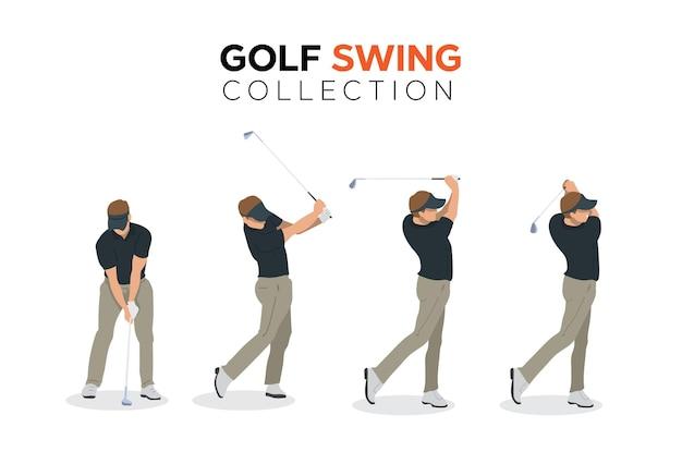 Golfswing collectie illustratie