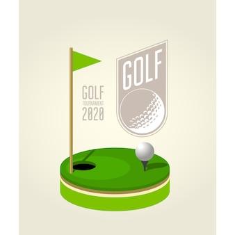 Golftoernooi poster ontwerpsjabloon - golfclub.