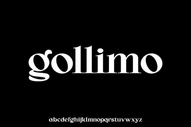Gollimo, de luxe en elegante glamourstijl van het lettertype