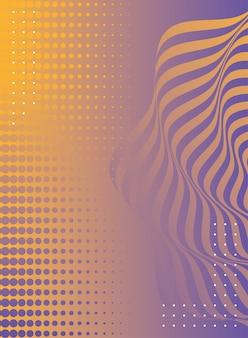 Golven en vormen mix kleuren achtergrond
