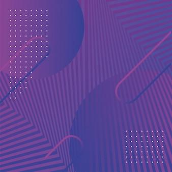 Golven en vormen paarse achtergrond