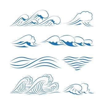 Golven . oceaan golven geïsoleerd