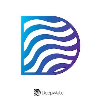 Golvend eerste letter d-logo