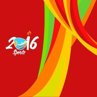 Golvende brazilië kleuren achtergrond