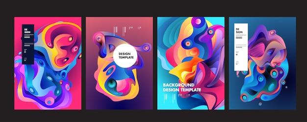 Golvende geometrische kleurrijke achtergrond