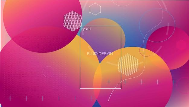 Golvende geometrische met vloeiende achtergrond