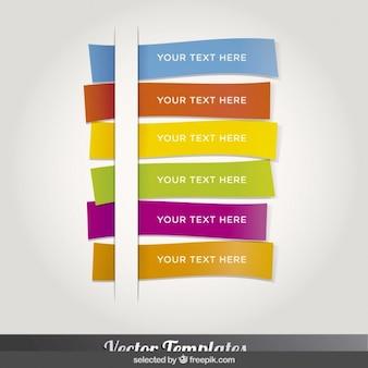 Golvende kleurrijke bookmarks