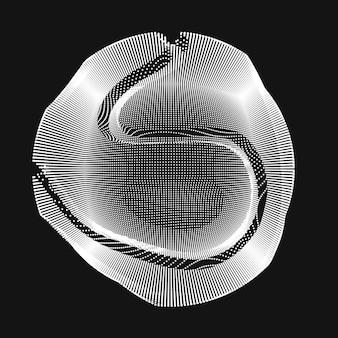Golvende lijnen die een cirkel maken
