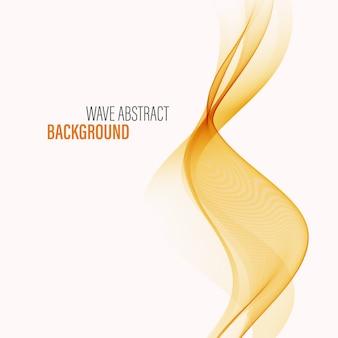 Golvende oranje achtergrond flow wave achtergrond abstracte achtergrond