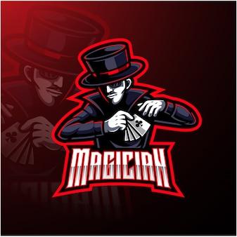 Goochelaar esport mascotte logo ontwerp