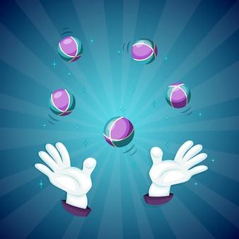 Goochelaar handen tonen goocheltruc