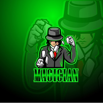 Goochelaar mascotte logo
