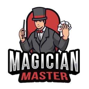Goochelaar master logo sjabloon