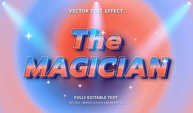 Goochelaar met bewerkbaar teksteffect in moderne stijl