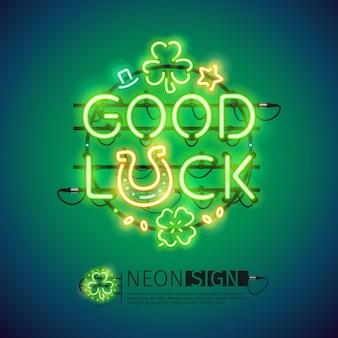 Good luck patricks day neon sign