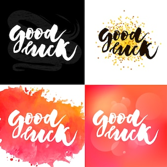 Good luck t-shirt belettering typografie
