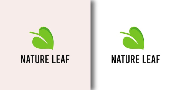 Good nature leaf restaurant logo ontwerpsjabloon